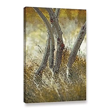 Ebern Designs 'Tree Trunks in Grass 5' Graphic Art Print on Canvas; 24'' H x 16'' W x 2'' D