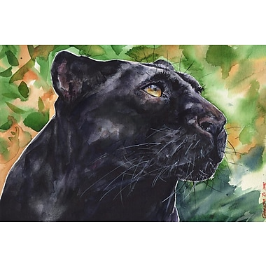 Red Barrel Studio 'Jungle Cat' Painting Print on Wrapped Canvas; 40'' H x 60'' W x 1.5'' D