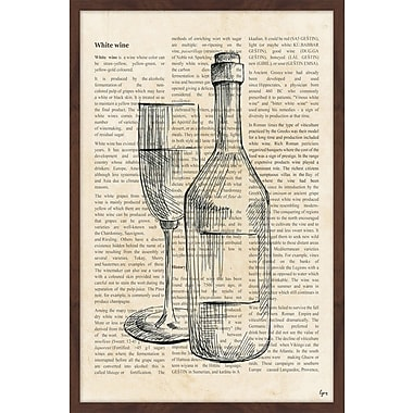 Red Barrel Studio 'White Wine History' Framed Painting Print; 24'' H x 16'' W x 1.5'' D