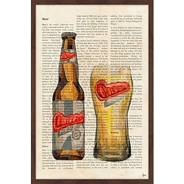 Red Barrel Studio 'Beer History' Framed Painting Print; 36'' H x 24'' W x 1.5'' D