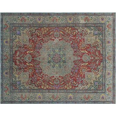 Astoria Grand Georgia-May Distressed Overdyed Hand-Knotted Rust Area Rug