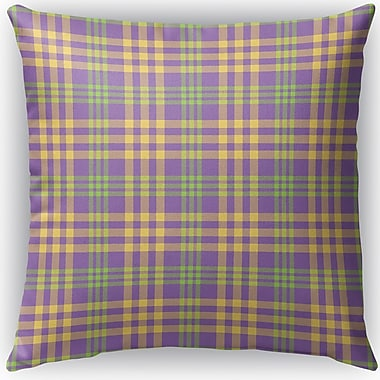 Darby Home Co Turene Plaid Indoor/Outdoor Throw Pillow; 18'' H x 18'' W x 4'' D