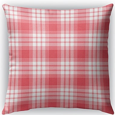 Darby Home Co Pascual Plaid Indoor/Outdoor Throw Pillow; 16'' H x 16'' W x 4'' D