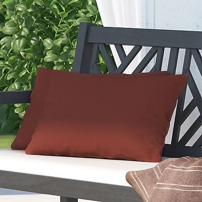 Alcott Hill Hawkes Brook Outdoor Lumbar Pillow (Set of 2); Husk Texture Brick