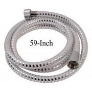 Evideco 59'' PVC Biflex Flexible Handheld Shower Hose; White/Chrome