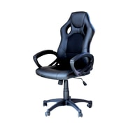 IDSOnlineCorp Adjustable Ergonomic Lumbar Support Swivel High-Back Mesh and Leather Executive Chair