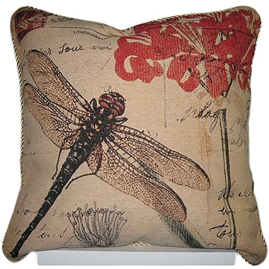 August Grove Annesse Dragonfly Dream Woven Pillow Cover