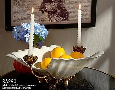 Westmen Lights Handmade Candlestick Fruit Decorative Bowl