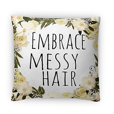 Kavka Embrace Messy Hair ll Fleece Throw Pillow; 16'' H X 16'' W X 4'' D