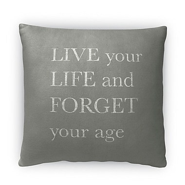 Kavka Forget Your Age Fleece Throw Pillow; 16'' H X 16'' W X 4'' D