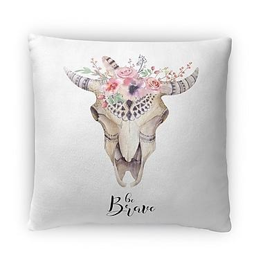 Kavka He Brave Fleece Throw Pillow; 18'' H X 18'' W X 4'' D
