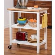 Breakwater Bay Ponderosa Kitchen Cart w/ Wood Top