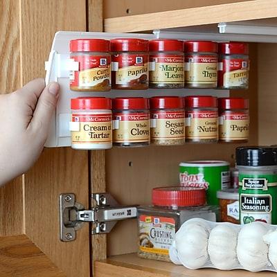 Rebrilliant Clip Cabinet 20 Jar Spice Rack