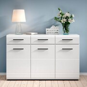 Contemp Style Fever 3 Drawer 3 Door Accent Cabinet