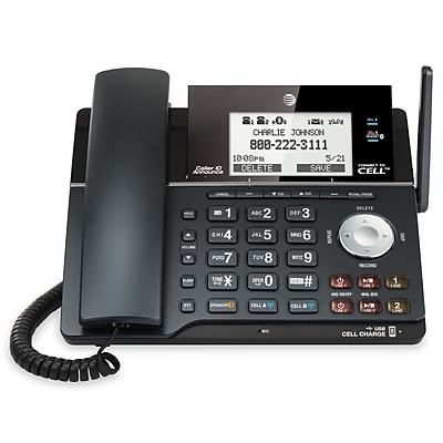 AT&T TL16013 2 line corded/cordless answering system with connect to cell