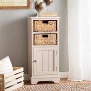 Breakwater Bay Gordon 1 Door Accent Cabinet; Vintage Gray