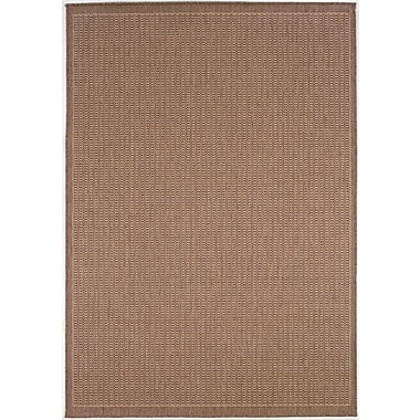 Charlton Home Westlund Saddle Stitch Cocoa Indoor/Outdoor Area Rug; 2' x 3'7''