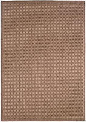 Charlton Home Westlund Saddle Stitch Cocoa Indoor/Outdoor Area Rug; 5'10'' x 9'2''