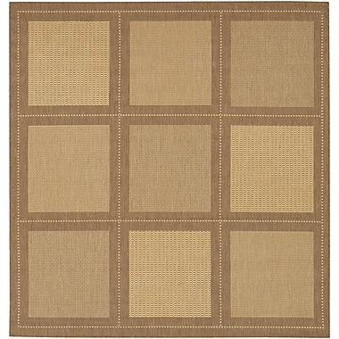 Charlton Home Westlund Natural/Beige Area Rug; Square 8'6''