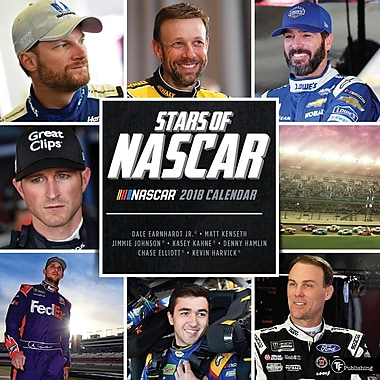 Tf Publishing 2018 Stars Of Nascar Wall Calendar 12