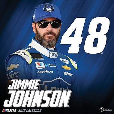 TF Publishing - Calendrier mural 2018, Jimmie Johnson, 12 x 12 po