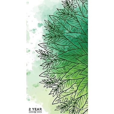 TF Publishing – Planificateur de poche Verdant 2 ans 2018-2019, 3,5 x 6,5 po