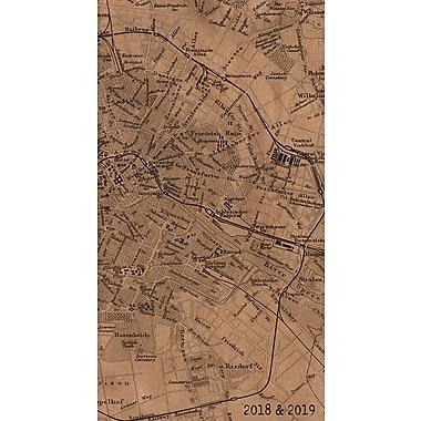 Tf Publishing 2018-2019 Kraft Map 2 Year Pocket Planner 3.5