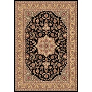 Astoria Grand Barwicks Black/Beige Medallion Rug; 1'8'' x 2'7''