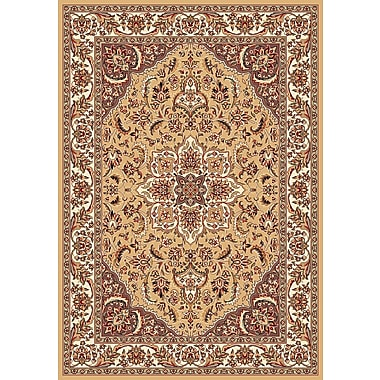 Astoria Grand Barwicks Beige/Ivory Medallion Rug; Runner 2'2'' x 7'11''