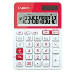Canon LS-123T Desktop Calculator, Red (8107B008)
