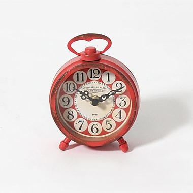 Contigo – Horloge de table avec aimant, 4,5 x 1,75 x 6 po, rouge, 2/paquet (9044-JX3033-CK)
