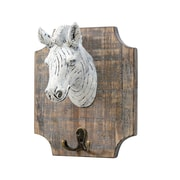 "Zebra On Plaque Wall Hook, 12"" x 7"" x 9.5"", 2/Pack (7603-PX0827-00)"