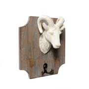 """Ram On Plaque Wall Hook, 12"""" x 7"""" x 9.5"""", 2/Pack (7603-PX0828-00)"""