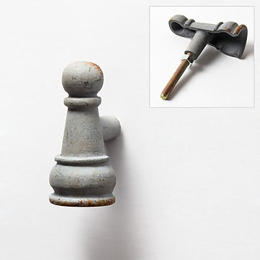 Poignée en forme de pièce du jeu d'échecs, pion, étain, 3,5 x 4 x 4 po, 6/paquet (9044-PX1794-00)