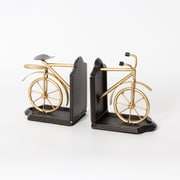 "Metal Golden Bicycle Bookend, 5.25"" x 3.25"" x 5.75"" (7168-PX0174-S2)"