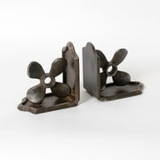"Cast Iron Propeller Bookend, 4.75"" x 3.25"" x 5.25"" (7168-PX0224-S2)"