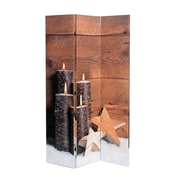 "4 Candles with Stars Print Canvas Divider, 47.25"" x 1.5"" x 70.75""H (2003-PX0455-00)"