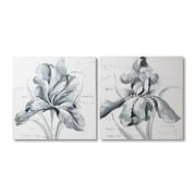 "Silver Iris Oil Painting Canvas, 32"" x 32"", 2/Pack (2021-PX1705-S2)"