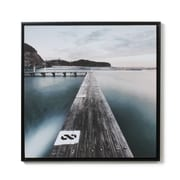 """Pier Boat Dock Glossy Painting With Frame, 30"""" x 30"""" (2039-TX7865-00)"""