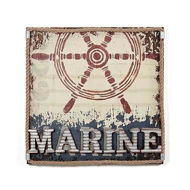 Décoration murale « Marine » avec illustration d'un volant de bateau, 24 x 24 po (7168-NX6157-00)