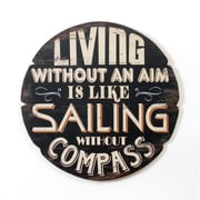 Plaque murale avec inscription « Living Without an Aim 13 like », 17,75 x 17,75 po (9044-NX7753-00)