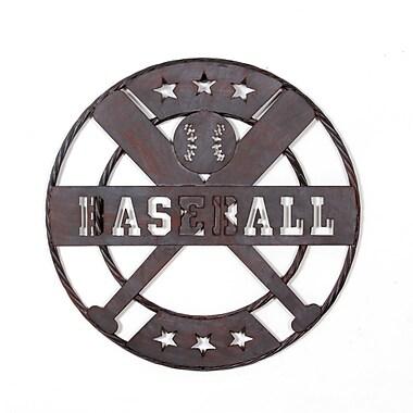 Décoration murale en métal en forme de balle de baseball (9155-PX2321-00)