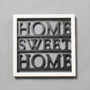 """Home Sweet Home"" Wooden Wall Decor, 9.75"" x 1.25"" x 9.75"" (9876-PX0601-00)"