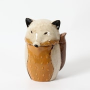 "Fox Ceramic Canister, 6.5"" x 6.25"" x 9.5"" (2488-TX6154-00)"