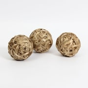 Natural Color Rattan Ball Decor, 3/Pack (7603-TX7218-S3)
