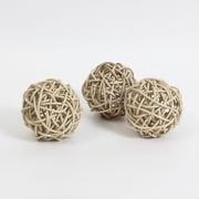 Décoration en forme de balle de rotin, 3/paquet (7603-TX7220-S3)