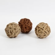 2 Natural & 1 Brown Rattan Ball, 3/Pack (7603-TX7221-S3)