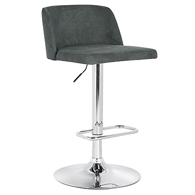 Cathay Importers Plush Linen Swivel Counter/Bar Stool, Grey
