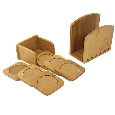 Cathay Importers Bamboo Napkin Holder Coaster Set, 8/Pack