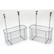Cathay Importers Chrome Over The Cabinet Door Caddy, 2/Pack
